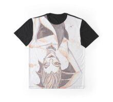 Batty Vampire Watercolor Painting Graphic T-Shirt