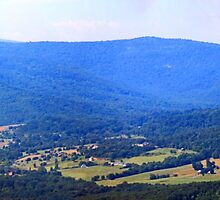Blue Ridge Mountains Panorama by WeeZie