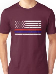 Thin Blue Red Line Flag Unisex T-Shirt