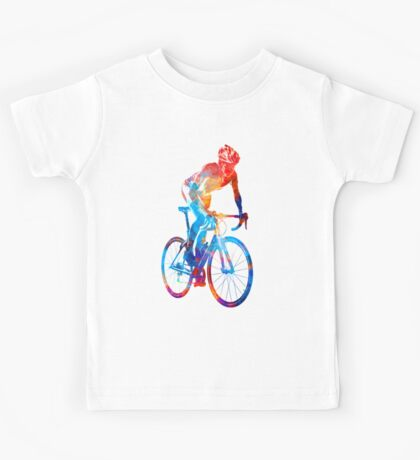 Woman triathlon cycling 06 Kids Tee