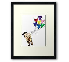 Up + Mickey Balloons Framed Print