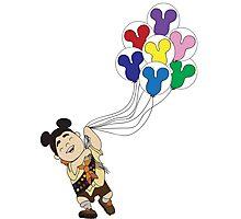 Up + Mickey Balloons Photographic Print