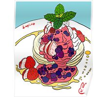 Berry Pancakes Poster