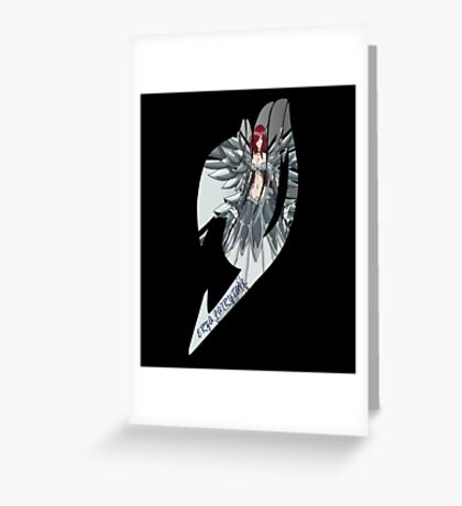 The Magic of Fairy Tail Anime (Erza Scarlet) Greeting Card