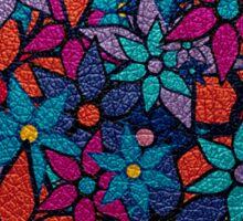 Retro Trendy Floral Pattern Sticker
