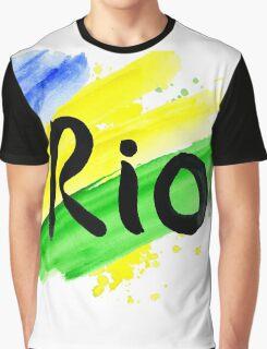 inscription Rio, Olympic games 2016 Rio de Janeiro  Graphic T-Shirt
