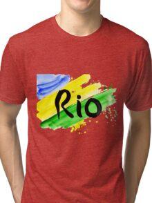 inscription Rio, Olympic games 2016 Rio de Janeiro  Tri-blend T-Shirt