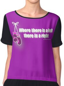 Where There is a left (light text) Chiffon Top