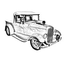 Model A Ford Pickup Hot Rod Illustration Photographic Print