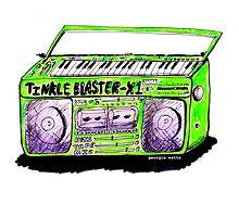 Tinkle Blaster-X1 Keyboard/Tape/Cassette Radio Stereo - Green by wattsingtonart