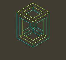 Impossible Shapes: Cube Outline Unisex T-Shirt