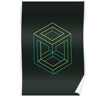 Impossible Shapes: Cube Outline Poster