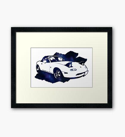 Eunos Roadster (Mazda MX5,Miata) Framed Print