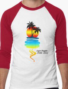 Sunset Paradise, Costa Rica Men's Baseball ¾ T-Shirt