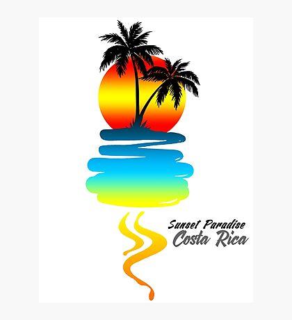 Sunset Paradise, Costa Rica Photographic Print