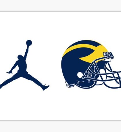 Michigan X Jordan Sticker