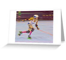Roller Derby Girl Greeting Card