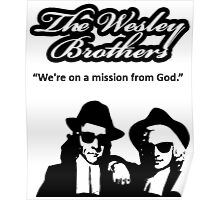 Wesley Brothers in Black Poster