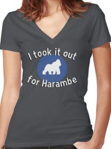 I took it out for Harambe Women's Fitted V-Neck T-Shirt