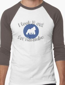 I took it out for Harambe Men's Baseball ¾ T-Shirt