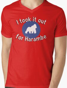 I took it out for Harambe Mens V-Neck T-Shirt