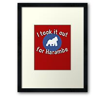 I took it out for Harambe Framed Print