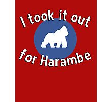 I took it out for Harambe Photographic Print