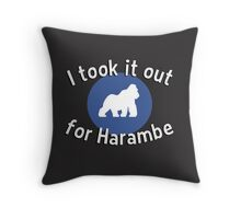 I took it out for Harambe Throw Pillow