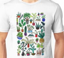 I Want All the Plants Watercolor Painting Unisex T-Shirt