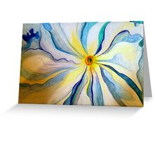 Georgia O'Keeffe Flower Replica  Greeting Card