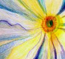 Georgia O'Keeffe Flower Replica  Sticker