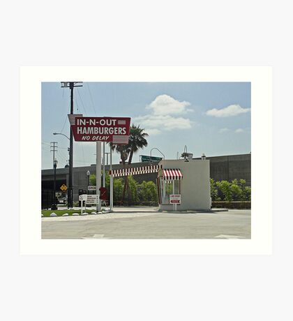 Original In-n-out Location Art Print