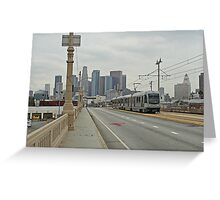 Los Angeles Gold Line With Skyline Greeting Card