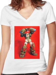 Heads will ROLL OUT! Women's Fitted V-Neck T-Shirt