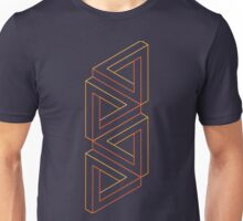 Impossible Shapes: Triangles Outline Unisex T-Shirt
