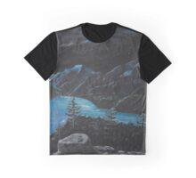 Mountin lake Night Graphic T-Shirt