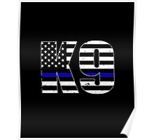 Police K9 Thin Blue Line Poster