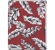 Tropical Leaves - Red iPad Case/Skin