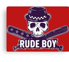 Skull Rude Boy Canvas Print
