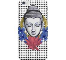 Buddah and flowers iPhone Case/Skin