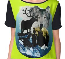Alaska Wildlife Chiffon Top