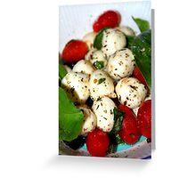 Cherry Tomato and Mozzarella Salad Greeting Card