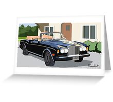 1993 Rolls Royce Corniche Greeting Card
