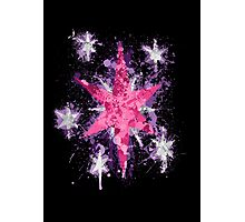 Twilight Sparkle CM Splatter Photographic Print