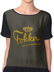 Fokker Vintage Aircraft Chiffon Top