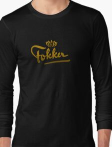 Fokker Vintage Aircraft Long Sleeve T-Shirt