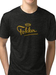 Fokker Vintage Aircraft Tri-blend T-Shirt