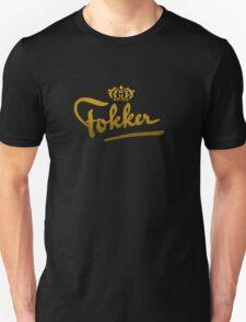 Fokker Vintage Aircraft Unisex T-Shirt