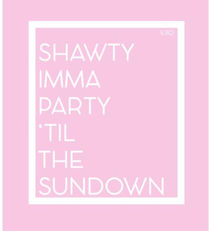 Shawty Imma Party 'Til The Sundown  Sticker