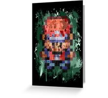 16-Bit Red Splatter Greeting Card
